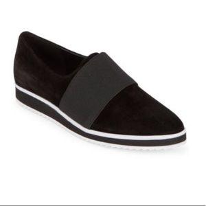 Karl lagerfeld black suede shoes